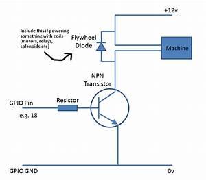 Gpio - 12v Device To A Raspberry Pi