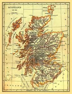 Ancient Scotland Map