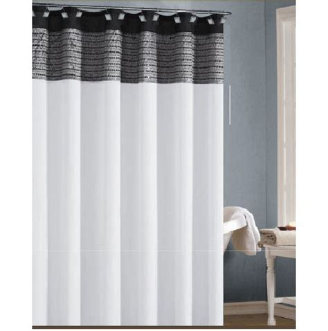 Shower Curtain Gray by White Black And Silver Gray Shower Curtain With Sequins