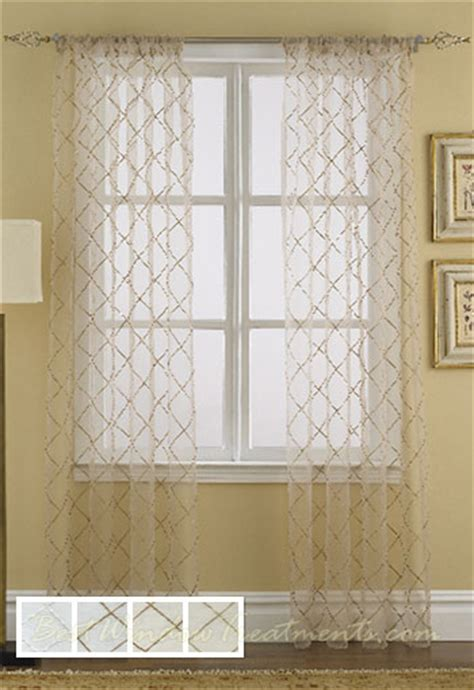 Curtain Color Matching by Liona Sheer Curtain Drapery Panels