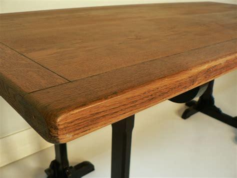 plateau de bureau bois bureau chene treteaux ancien