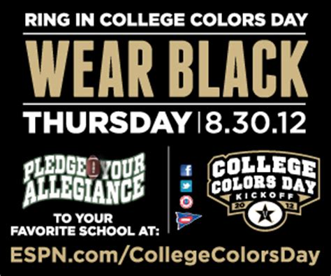 national college colors day national college colors day