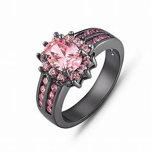 Black and pink diamond engagement ring hd black gold and for Pink diamond wedding rings