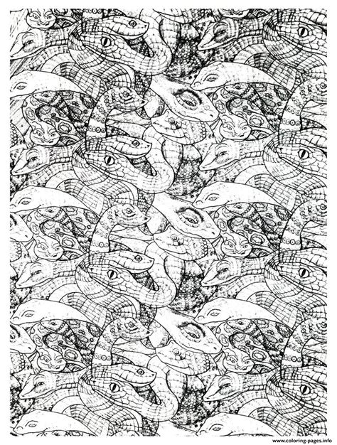 printable complex coloring pages adults snakes complex coloring pages printable