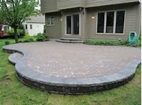 paver patio designs brick paver patio designs - Patio Paver Designs with Flower Garden – Home Design Studio