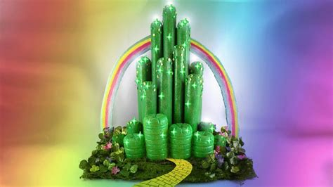 diy emerald city wizard  oz youtube