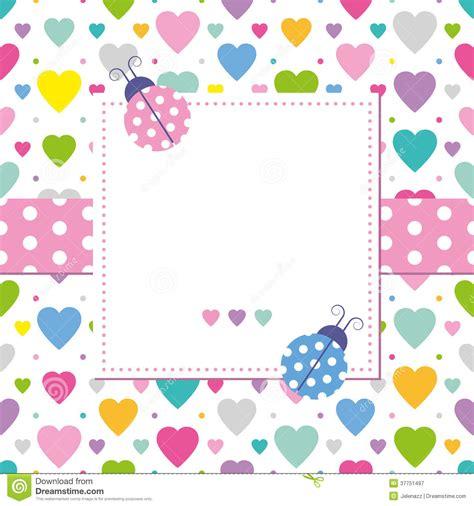 tarjetas de cumplea os para ni as mariquitas y tarjeta de felicitación de los corazones