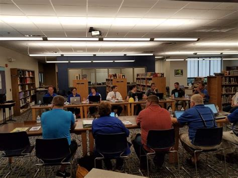 wayne staff members meeting monday introduced claims schools community board welcomed families teachers students during open