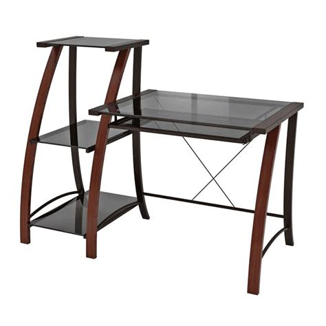z line glass desk z line designs triana wood and glass desk with matching
