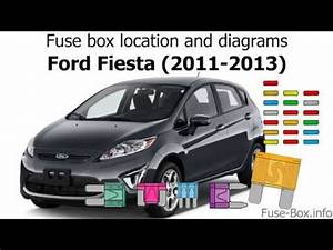 Fuse Box Location And Diagrams  Ford Fiesta  2011