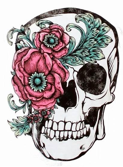 Skull Sugar Tattoo Flower Clipart Sleeve Transparent