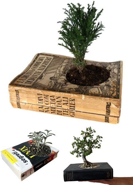 diy recycled planters plants indoor books paper recycling pot dornob pots awesome into plant own via taster urban rate