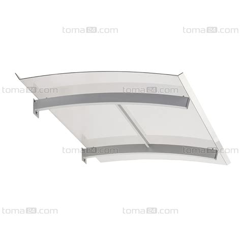 flat door canopy smart polycarbonate cm solid canopies toma24