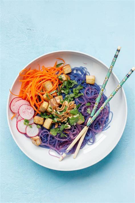 blue magic noodle bowl  twist   bun bowl mandy art