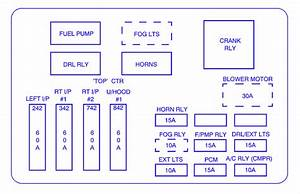 Chevrolet Impala 2004 Main Engine Fuse Box  Block Circuit Breaker Diagram