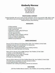 1 hair stylist resume templates try them now for Hair stylist resume