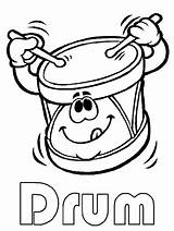 Drum Cliparts Clip Coloring Pages Drums Colouring Sheet sketch template