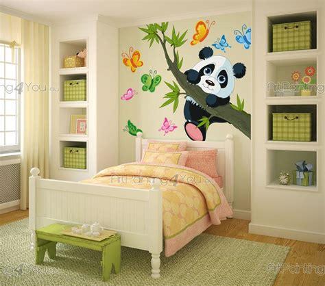chambre bébé panda stickers muraux chambre bébé ours panda artpainting4you