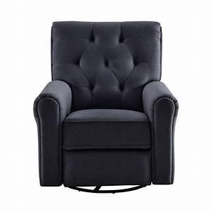 Raleigh Upholstered Manual Swivel Glider Rocker Chair