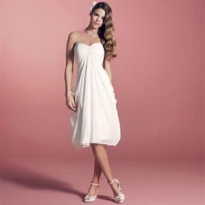 Robe Mariee Courte : robe de mari e courte en cr pe ivoire elina ~ Melissatoandfro.com Idées de Décoration
