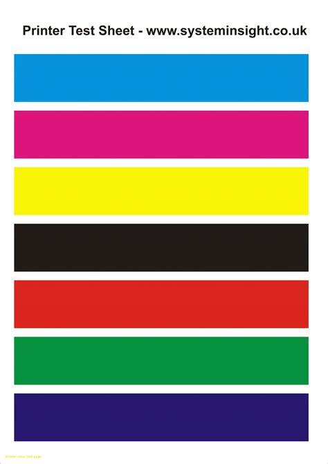 printer color test page     erer