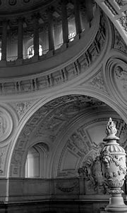 Bw Dome Interior Architectural City Hall Photograph by ...