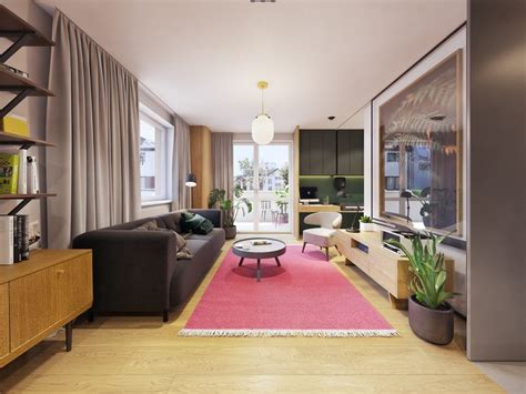 color  compact apartments blends personality minimalism