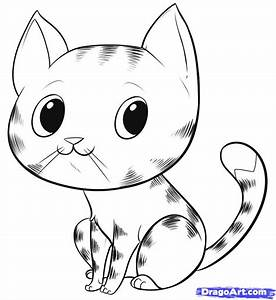 How to Draw an Easy Cat, Step by Step, Pets, Animals, FREE ...