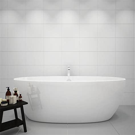 white marble tile wickes white gloss ceramic tile 360 x 275mm wickes co uk