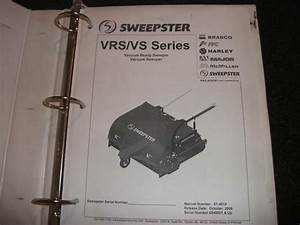 Sweepster Vrs  Vs Operation Maintenance Parts Manual
