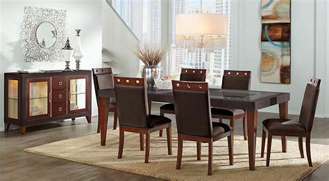 light colored dining room sets sofia vergara savona chocolate 5 pc rectangle dining room