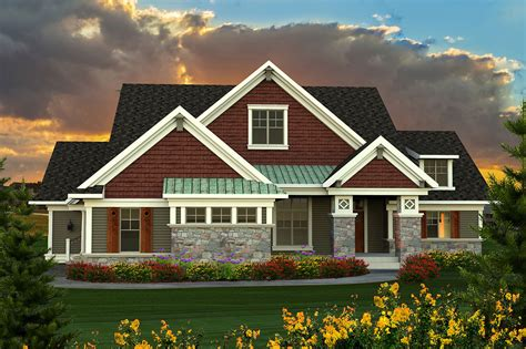 ranch plan  large great room ah architectural