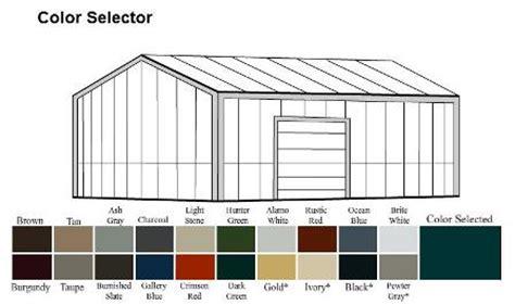 Pole Barn Color Selector by Amko Metal Buildings In Nw Arkansas Myrick Construction