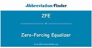 Defini U00e7 U00e3o De Zfe  Zero-for U00e7ando Equalizador