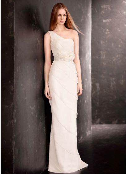 White By Vera Wang Tier One Shoulder Wedding Dress David