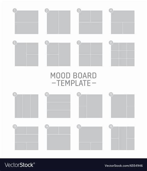 Moodboard Template Mood Board Template Royalty Free Vector Image Vectorstock