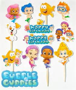 items similar to 12 guppies birthday cupcake cake toppers on etsy