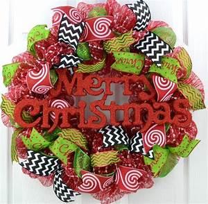 Whimsical Christmas Door Wreath