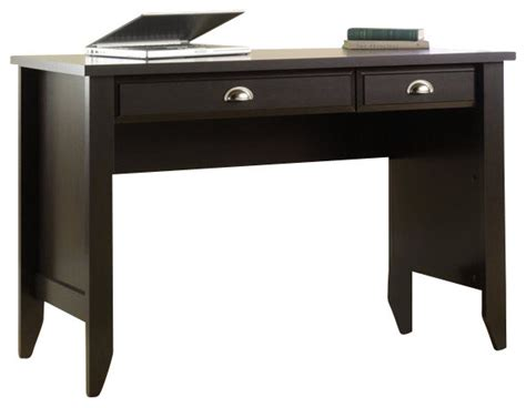 sauder shoal creek computer desk jamocha wood sauder shoal creek desk in jamocha wood finish