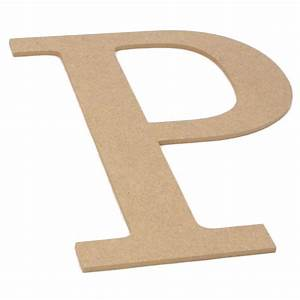 10quot decorative wood letter p ab2040 craftoutletcom With wooden letter p