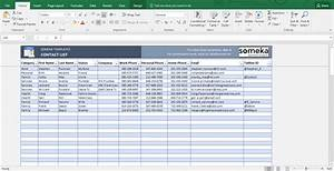 Contact list template excel free business template for Microsoft excel address book template
