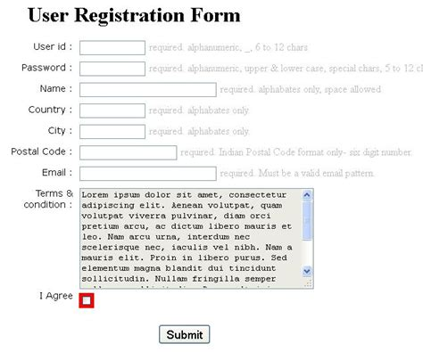 html5 form validation without javascript free source