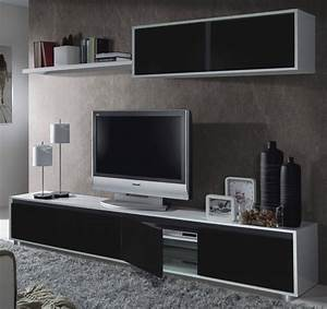 aida tv unit living room furniture set media wall black on With modern set of living room furniture wall tv unit