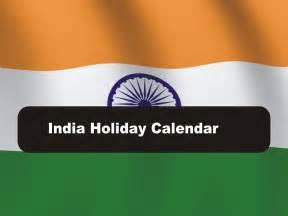 2017 Calendar with Holidays India