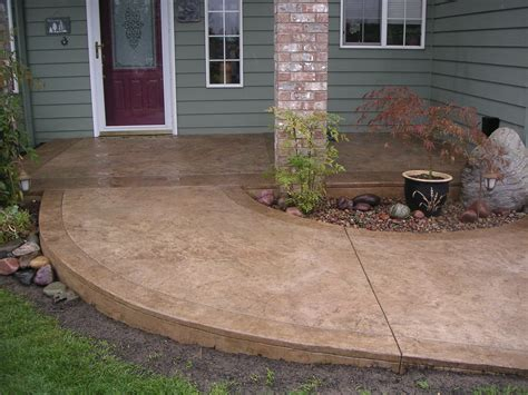stained cement porch concrete walkway ideas cement