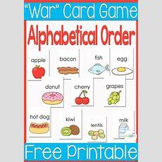 "Free Printable Alphabetical Order ""war"" Card Game  1st Grade  Alphabet Games, Preschool"