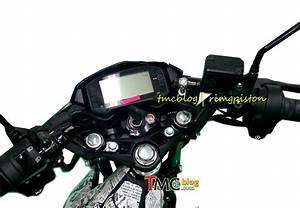 Lagi  Penampakan Speedometer Dan Stang Suzuki Satria Fu