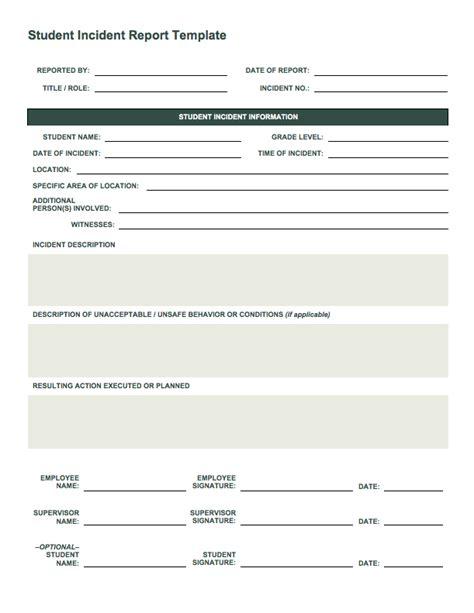 incident report templates smartsheet