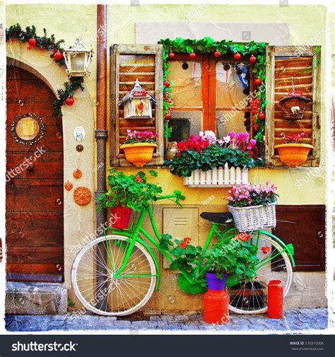 Pretty Streets Small Italian Villages Stock Photo