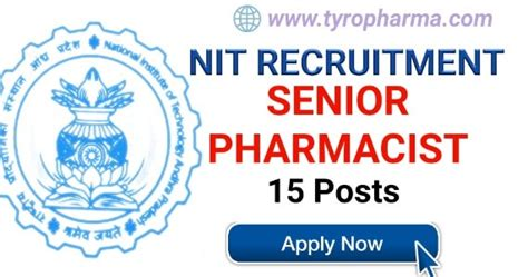 Pharmacist Recruitment by Pharmacist Recruitment 15 Posts In National Institute Of